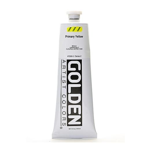 Golden Heavy Body Acrylics, Primary Yellow, 5oz (71834)