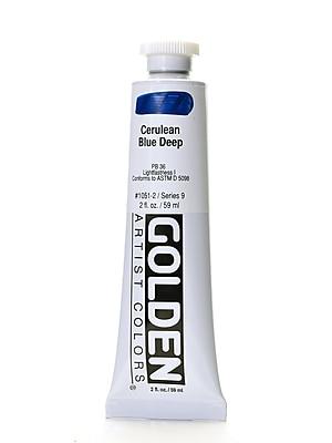 Golden Heavy Body Acrylics cerulean blue deep 2 oz.
