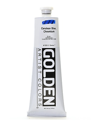 Golden Heavy Body Acrylics, Cerulean Blue Chromium, 5oz (83833)