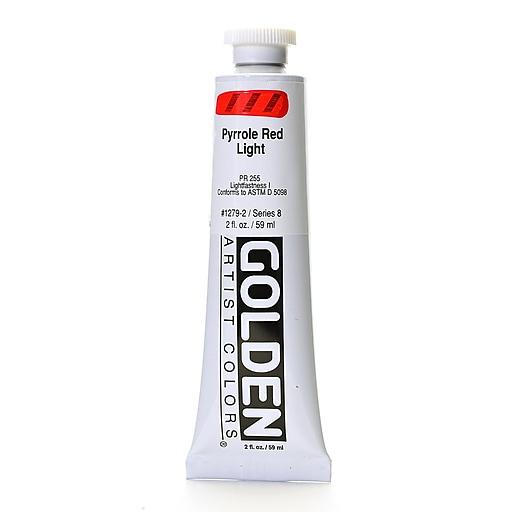 Golden Heavy Body Acrylics pyrrole red light 2 oz.