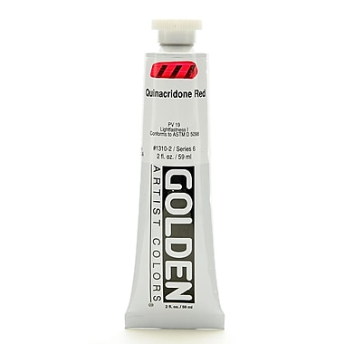 Golden Heavy Body Acrylics, Quinacridone Red, 2oz (87279)