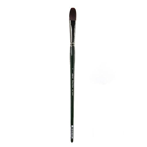 Silver Brush Ruby Satin Series Synthetic Brush, Long Handle, 10, Filbert, 2503 (49192)