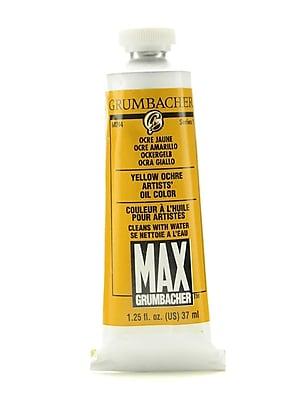 Grumbacher Max Water Miscible Oil Colors Yellow Ochre 1.25 Oz., 2/Pk