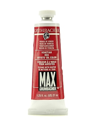 Grumbacher Max Water-Soluble Oil Paint, 1.25 oz. tube, Venetian Red [Pack of 2]