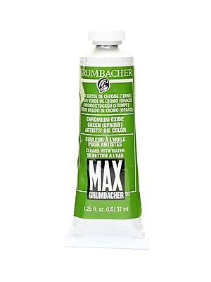 Grumbacher Max Water-Soluble Oil Paint, 1.25 oz. tube, Chromium Oxide Green Opaque