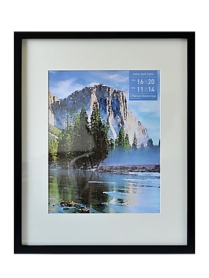 Nielsen Bainbridge Gallery Wood Frames for Canvas 16 in. x 20 in. black 11 in. x 14 in. opening