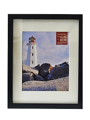 "Nielsen Bainbridge Gallery Wood Frames for Canvas, 11"" x 14"", 8"" x 10"" Opening, Black (71833)"