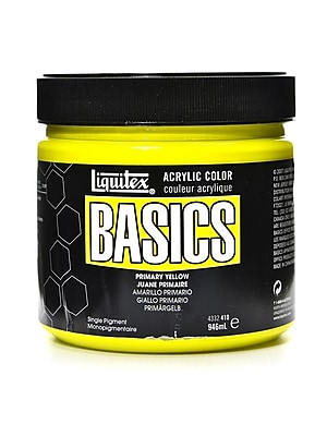 Liquitex Basics Acrylics Colors, Primary Yellow, 32oz Jar (43521)
