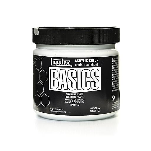 Liquitex Basics Acrylics Colors, Titanium White, 32oz Jar (60170)