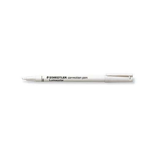 Staedtler Lumocolor Correction Pen, 10/Pack (30848-PK10)