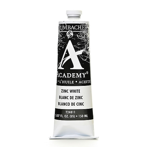 Grumbacher Academy Oil Paint, Zinc White, 5.07 oz. tube [Pack of 2]