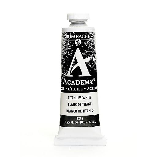 Grumbacher Academy Oil Paint, Titanium White, 1.25 oz. tube [Pack of 3]