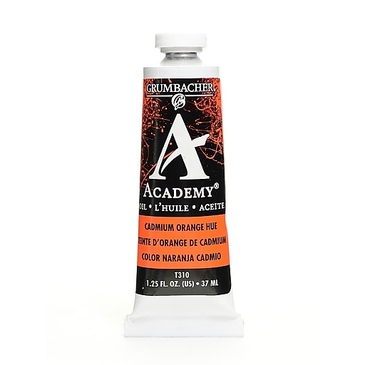 Grumbacher Academy Oil Paint, Cadmium Orange Hue, 1.25 oz. tube [Pack of 3]
