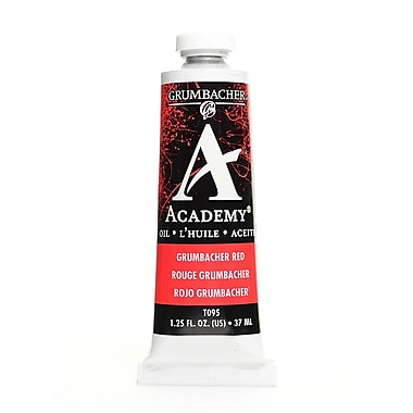 Grumbacher Academy Oil Paint, Grumbacher Red, 1.25 oz. tube [Pack of 3]