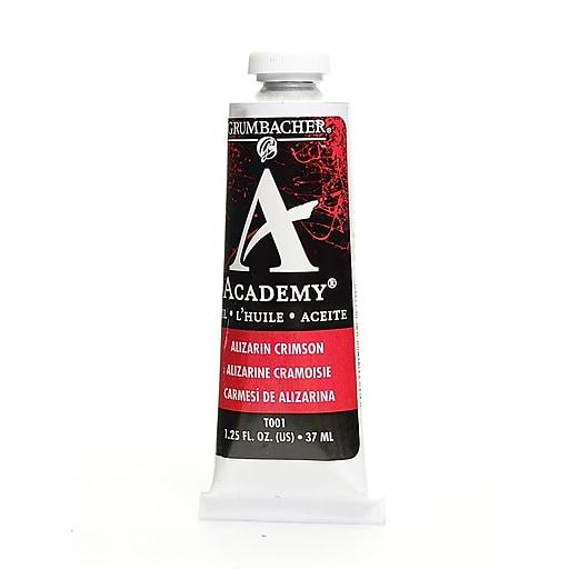 Grumbacher Academy Oil Paint, Alizarin Crimson, 1.25 oz. tube [Pack of 3]