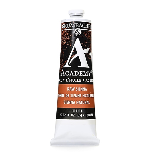 Grumbacher Academy Oil Paint, Raw Sienna, 5.07 oz. tube