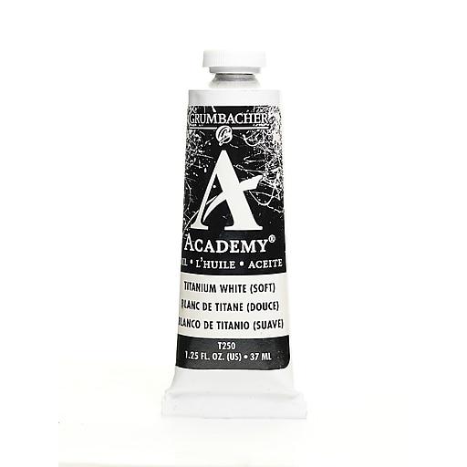 Grumbacher Academy Oil Paint, Titanium White (soft formula), 1.25 oz. tube [Pack of 3]