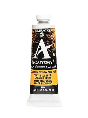 Grumbacher Academy Oil Paint, Cadmium Yellow Deep Hue, 1.25 oz. tube [Pack of 3]
