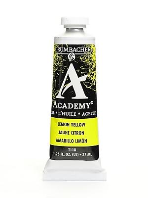 Grumbacher Academy Oil Paint, Lemon Yellow, 1.25 oz. tube [Pack of 3]