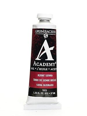 Grumbacher Academy Oil Paint, Burnt Sienna, 1.25 oz. tube [Pack of 3]