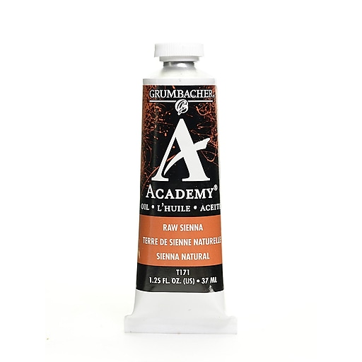 Grumbacher Academy Oil Paint, Raw Sienna, 1.25 oz. tube [Pack of 3]