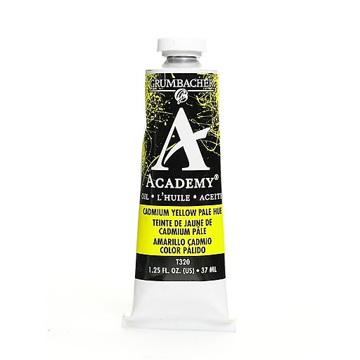 Grumbacher Academy Oil Paint, Cadmium Yellow Pale Hue, 1.25 oz. tube [Pack of 3]