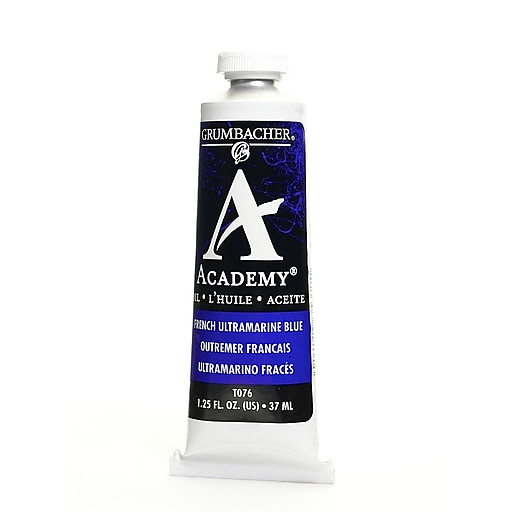 Grumbacher Academy Oil Paint, French Ultramarine Blue, 1.25 oz. tube [Pack of 3]