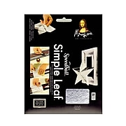 Mona Lisa Simple Leaf Silver Pack Of 18 Sheets [Pack Of 2]