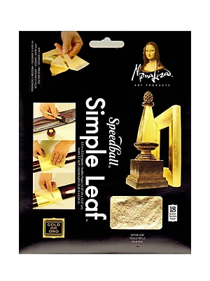 Mona Lisa Simple Leaf Gold Pack Of 18 Sheets [Pack Of 2]
