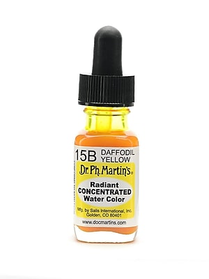 Dr. Ph. Martin's Radiant Concentrated Watercolors daffodil yellow 1/2 oz. [Pack of 3]
