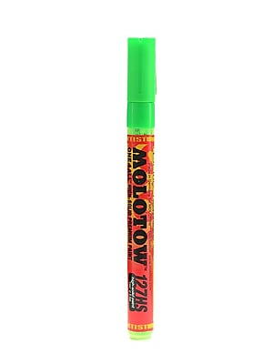 Molotow One4All Acrylic Paint Marker, 2 mm, Neon Green Fluorescent #219 [Pack of 6]