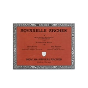 "Arches Aquarelle Watercolor Block, 140Lb, Hot Press, 9"" X 12"" (40079)"