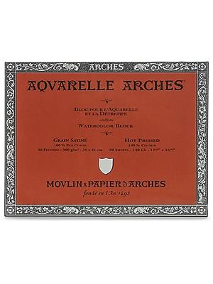 Arches Aquarelle Watercolor Block 140 lb. hot press 12 in. x 16 in.