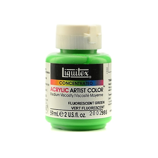 Liquitex Soft Body Professional Artist Acrylic Colors, Fluorescent Green, 2oz, 2/Pack (11893-PK2)
