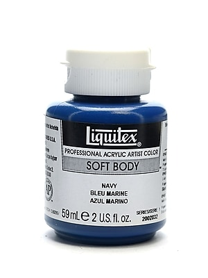 Liquitex Soft Body Professional Artist Acrylic Colors, Navy, 2oz, 3/Pack (16974-PK3)