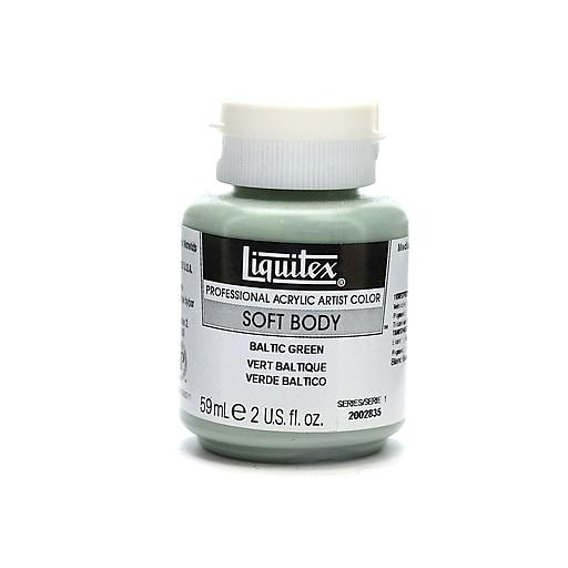 Liquitex Soft Body Professional Artist Acrylic Colors Baltic green 2 oz. [Pack of 3]