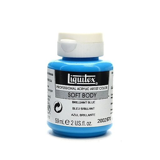 Liquitex Soft Body Professional Artist Acrylic Colors brilliant blue 2 oz. [Pack of 3]