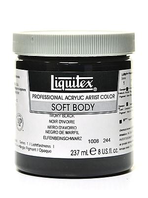 Liquitex Soft Body Professional Artist Acrylic Colors ivory black 8 oz.