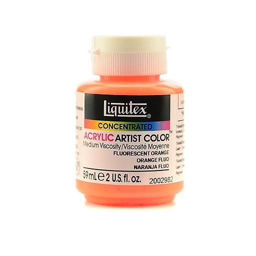 Liquitex Soft Body Professional Artist Acrylic Colors, Fluorescent Orange, 2oz, 2/Pack (39219-PK2)