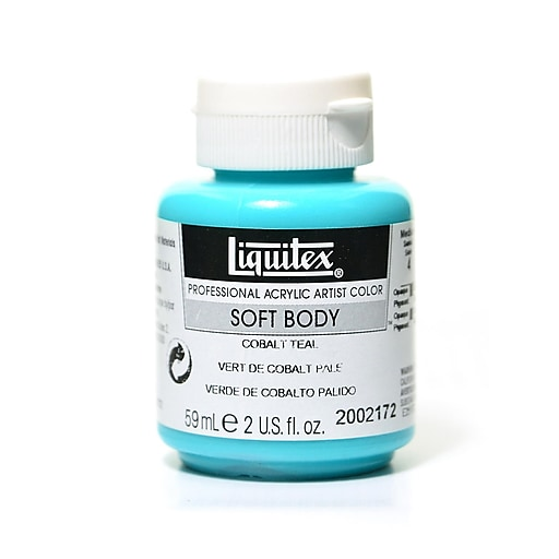 Liquitex Soft Body Professional Artist Acrylic Colors cobalt teal 2 oz.