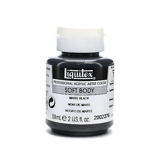 Liquitex Soft Body Professional Artist Acrylic Colors, Mars Black, 2oz, 3/Pack (56364-PK3)