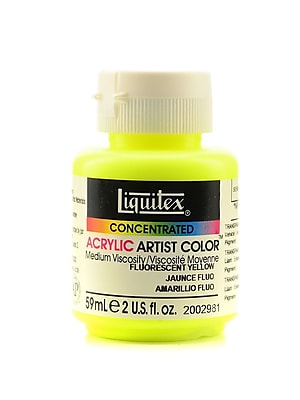 Liquitex Soft Body Professional Artist Acrylic Colors, Fluorescent Yellow, 2oz, 2/Pack (61384-PK2)