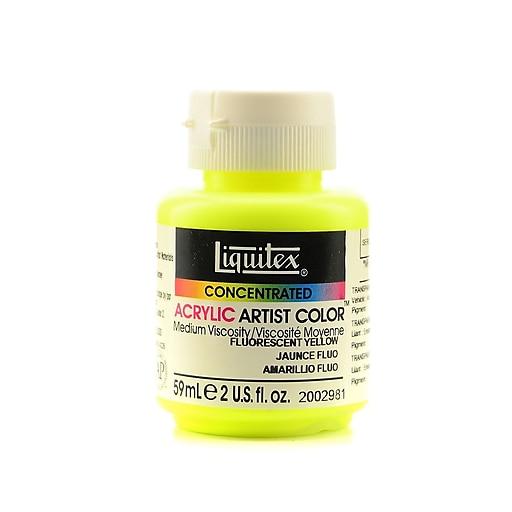 Liquitex Soft Body Professional Artist Acrylic Colors, Fluorescent Yellow, 2oz, 2/Pack (61384-PK2)