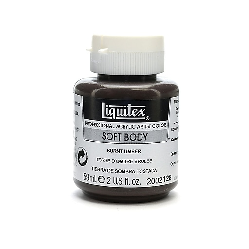 Liquitex Soft Body Professional Artist Acrylic Colors burnt umber 2 oz. [Pack of 3]