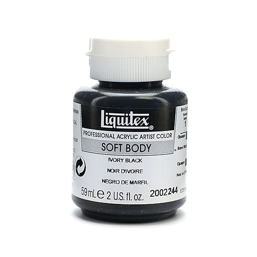 Liquitex Soft Body Professional Artist Acrylic Colors Ivory Black 2 oz. Pack of 3 (77620-PK3)