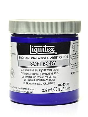 Liquitex Soft Body Professional Artist Acrylic Colors, Ultramarine Blue (Green Shade), 8oz (85780)