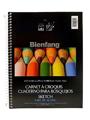 Bienfang 601SD Take Me Along Sketch Pad 8 1/2 in. x 11 in. [Pack of 3]