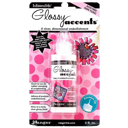 Ranger Glossy Accents clear embellishment [Pack of 3]