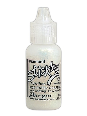 Ranger Stickles Glitter Glue Diamond 0.5 Oz. Bottle [Pack Of 6]