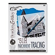 Borden  and  Riley #51H Parchment Tracing Paper 19 in. x 24 in. pad of 50